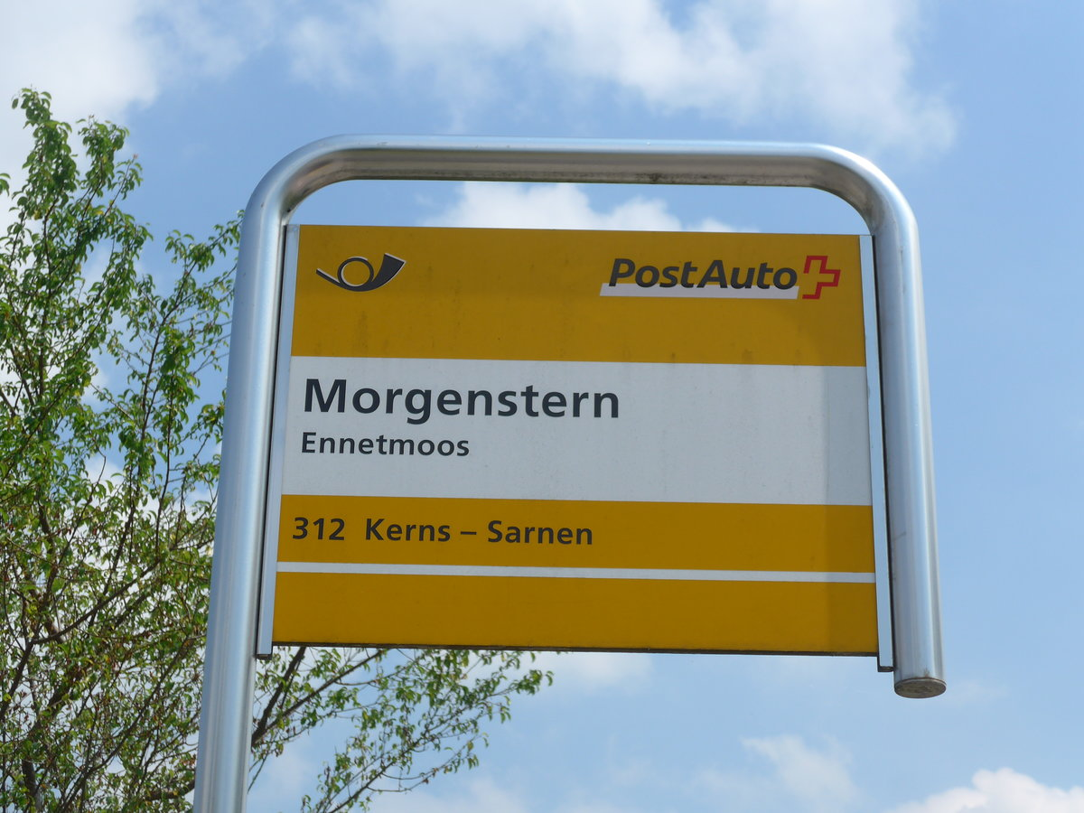(180'724) - PostAuto-Haltestelle - Ennetmoos, Morgenstern - am 24. Mai 2017