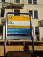PostAuto/284721/136859---postautoortsbus-haltestelle---brig-stadtplatz (136'859) - PostAuto+Ortsbus-Haltestelle - Brig, Stadtplatz - am 22. November 2011