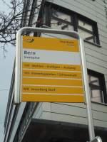 PostAuto/285418/137583---postauto-haltestelle---bern-inselspital (137'583) - PostAuto-Haltestelle - Bern, Inselspital - am 9. Januar 2012