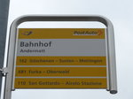 (175'035) - PostAuto-Haltestelle - Andermatt, Bahnhof - am 18. September 2016