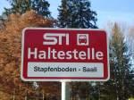 STI Thun/284450/136770---sti-haltestelle---heiligenschwendi-stapfenboden-saali (136'770) - STI-Haltestelle - Heiligenschwendi, Stapfenboden-Saali - am 21. November 2011