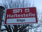 STI Thun/284519/136843---sti-haltestelle---niederstocken-saege (136'843) - STI-Haltestelle - Niederstocken, Säge - am 22. November 2011