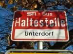 STI Thun/284746/137056---sti-haltestelle---tschingel-unterdorf (137'056) - STI-Haltestelle - Tschingel, Unterdorf - am 28. November 2011