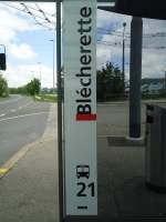 TL Lausanne/287154/138738---tl-haltestelle---lausanne-blcherette (138'738) - TL-Haltestelle - Lausanne, Blécherette - am 13. Mai 2012