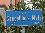 (168'639) - Strassenschild - Via Cancelliere Molo - am 6. Februar 2016 in Bellinzona